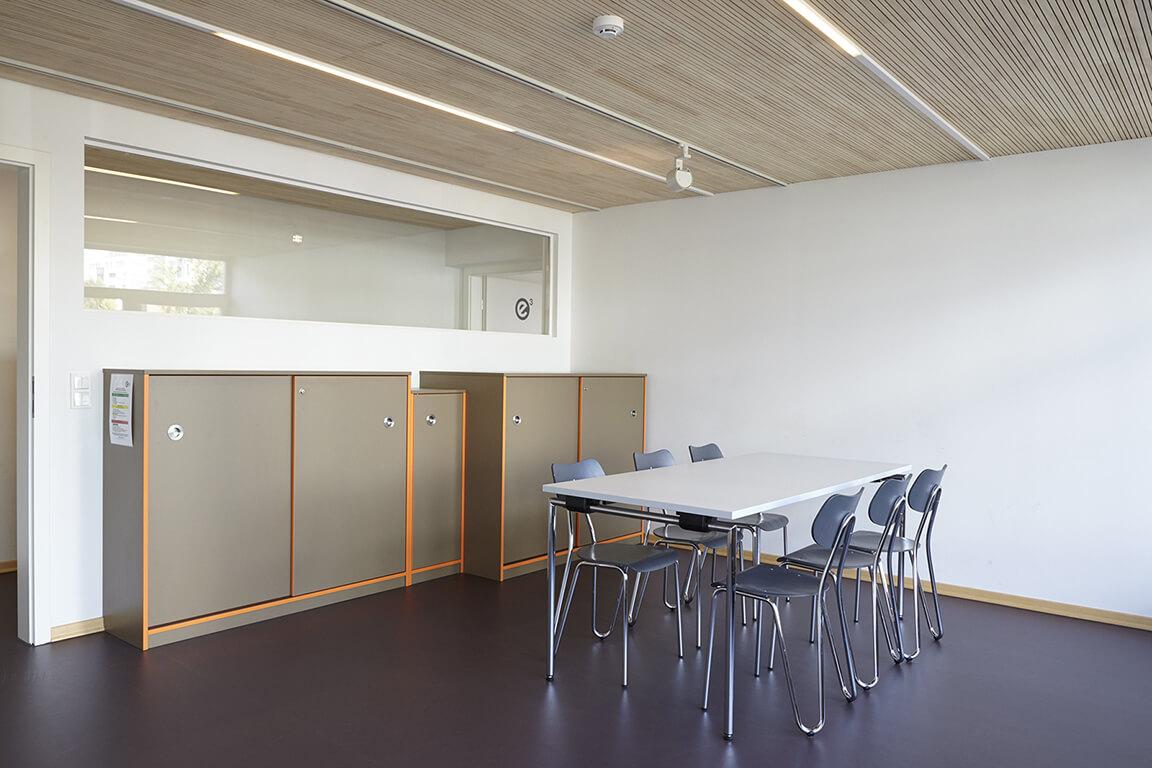Ein kleiner Seminarraum in der Esche