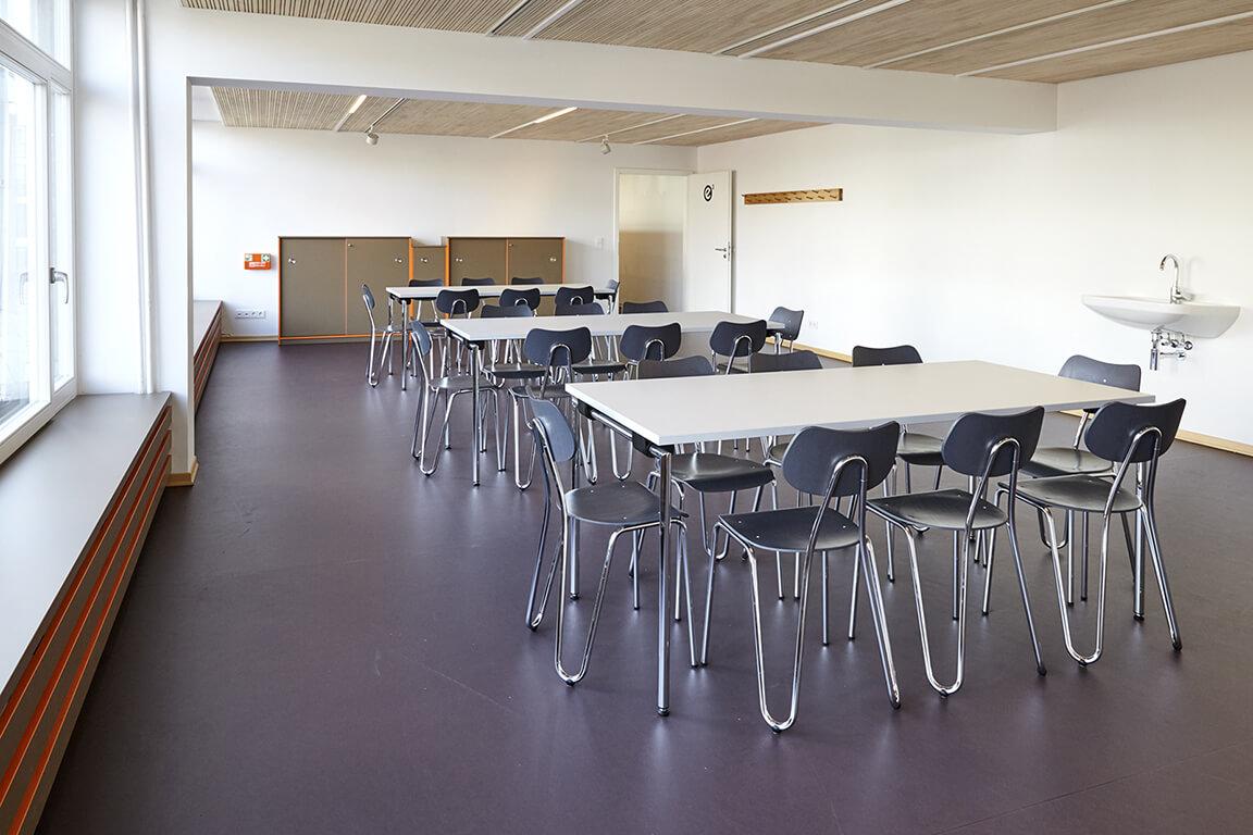 Der große Seminarraum in der Esche