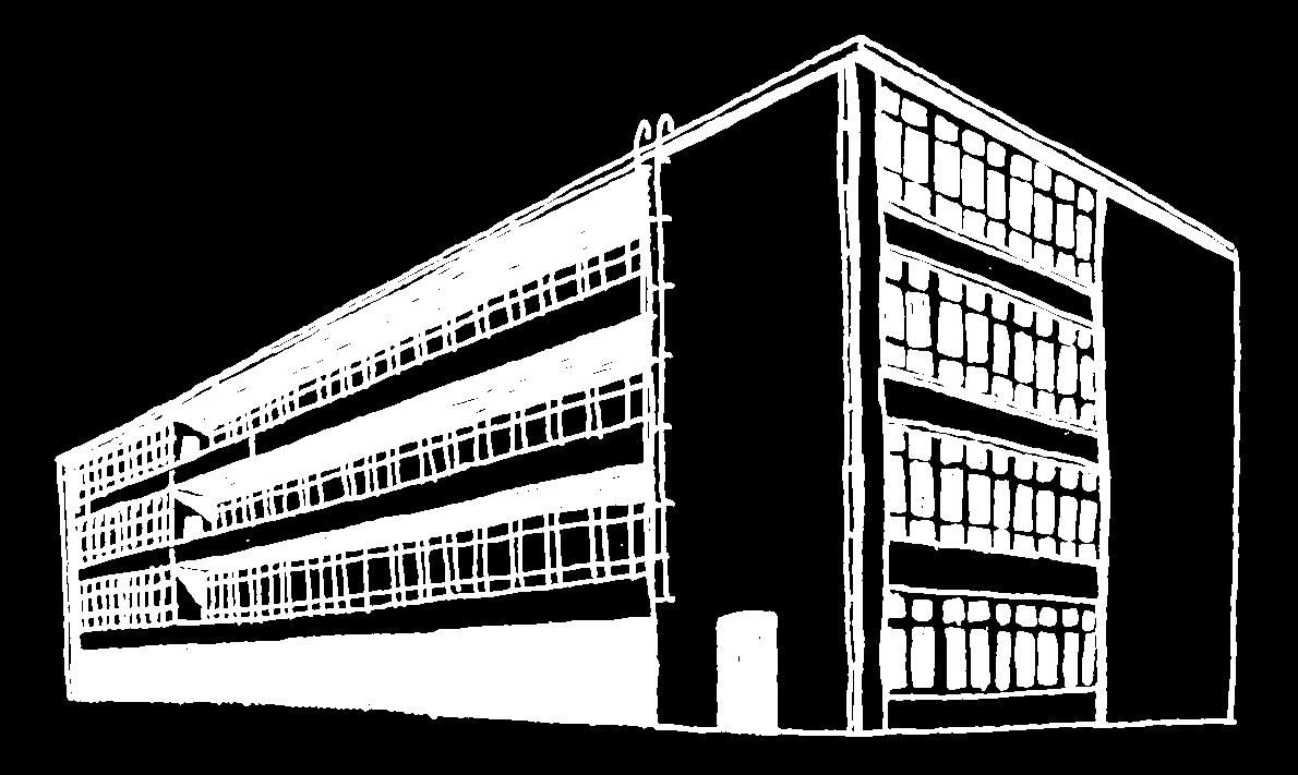 Zeichnung des Esche Gebäudes von aussen