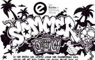 Flyer Sommerferien Programm Esche Jugendkunsthaus