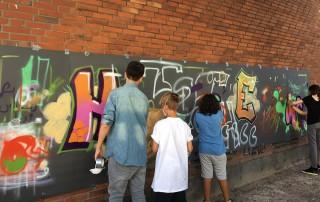 Sommerferien Outliners Graffiti Esche Jugendkunsthaus