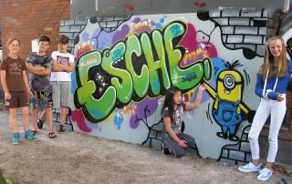 Graffiti Esche Jugendkunsthaus Ferien 2016 Sommerferien
