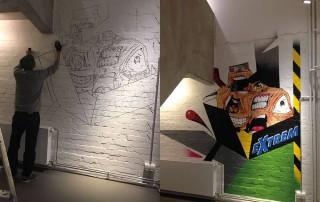 Elmar Lause Wandbild Kunst Esche Jugendkunsthaus