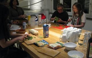 Kochen Kochkurs Esche Jugendkunsthaus Küche