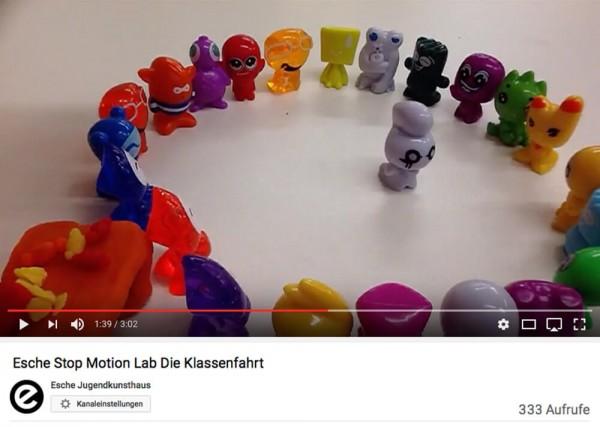 Trickfilm Stop Motion Lab Esche Jugendkunsthaus Klassenfahrt