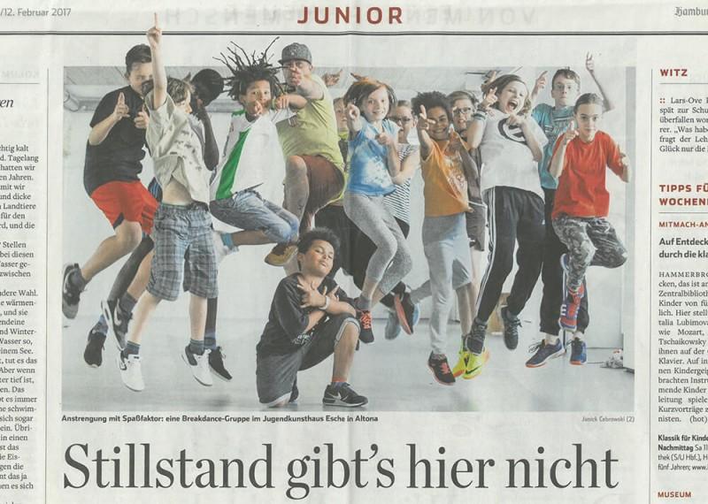 Hamburger Abendblatt Presse Zeitung Esche Jugendkunsthaus