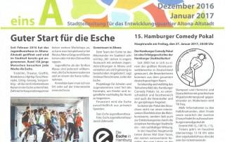einsA Stadtteil Zeitung Presse Altona Esche Jugendkunsthaus
