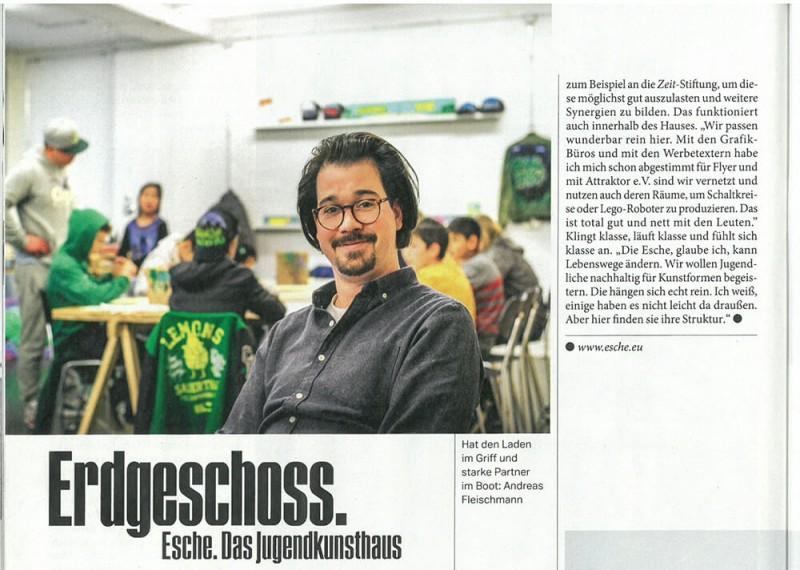 Szene Hamburg Artikel Presse Jugendkunsthaus Esche Zeitung Magazin