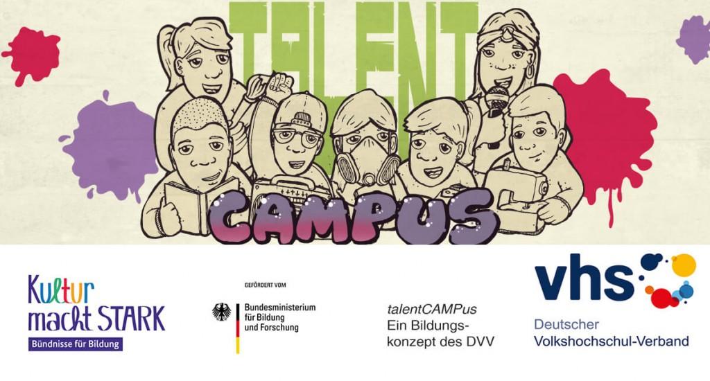 talentCAMPus Logos Herbstferien 2017 Jugendkunsthaus Esche