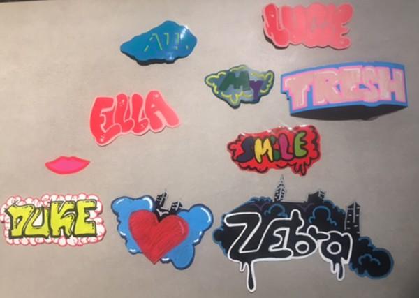 Sticker Aufkleber Outliner Can Corner Graffiti Workshop Kurs Esche Jugendkunsthaus