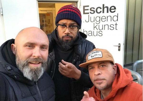 Samy Deluxe und Niko Backspin besuchen Delles im Esche Jugendkunsthaus 2017