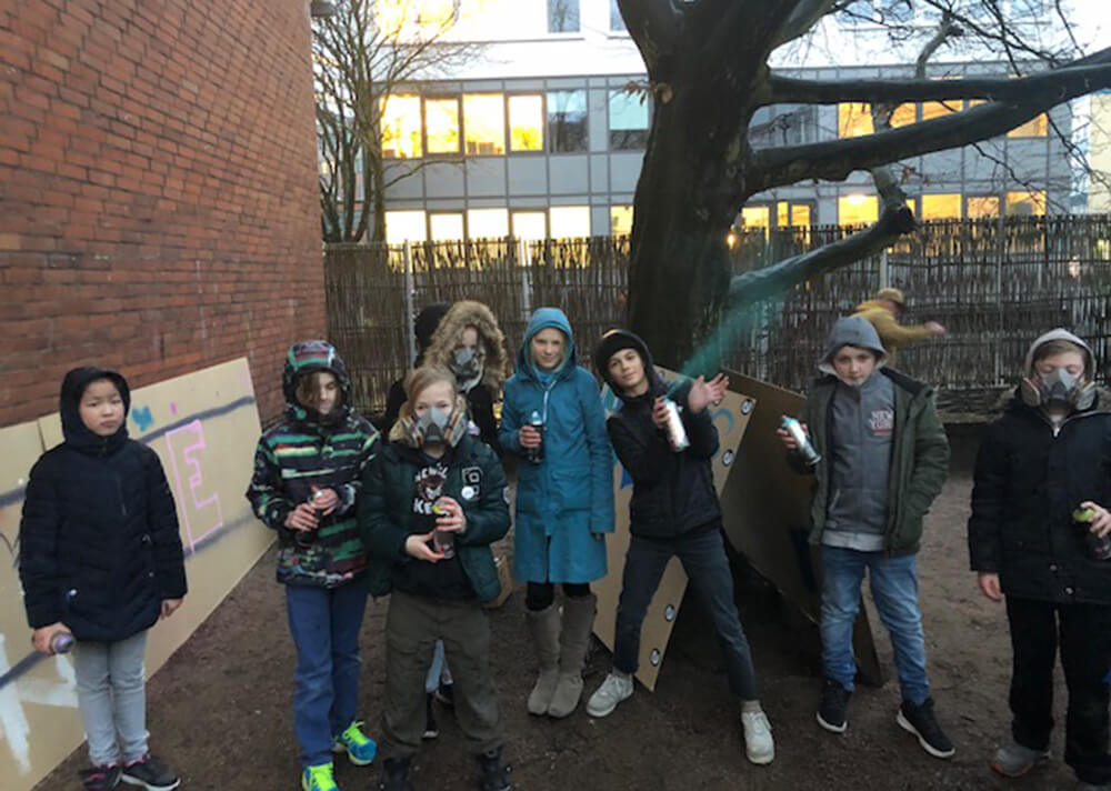 Outliners sprühen Januar 2018 Esche Jugendkunsthaus