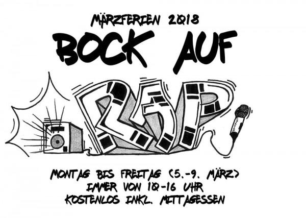 Bock auf Rap Märzferien mit D-Flame Esche Jugendkunsthaus 2018