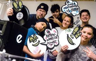 DJ-Kurs Flyer Vorderseite Plattenkratzer Esche Jugendkunsthaus 2018