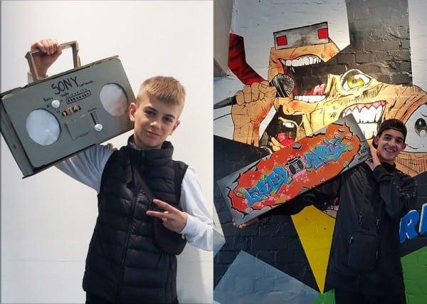 Graffiti Can-Corner Ghettoblaster Leinwand Esche Jugendkunsthaus 2018