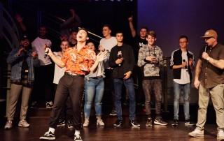Breakdance Raskillz All Tones DeluxeKidz Esche Jugendkunsthaus Bildrechte: Thalia Theater / Studio Fabian Hammerl