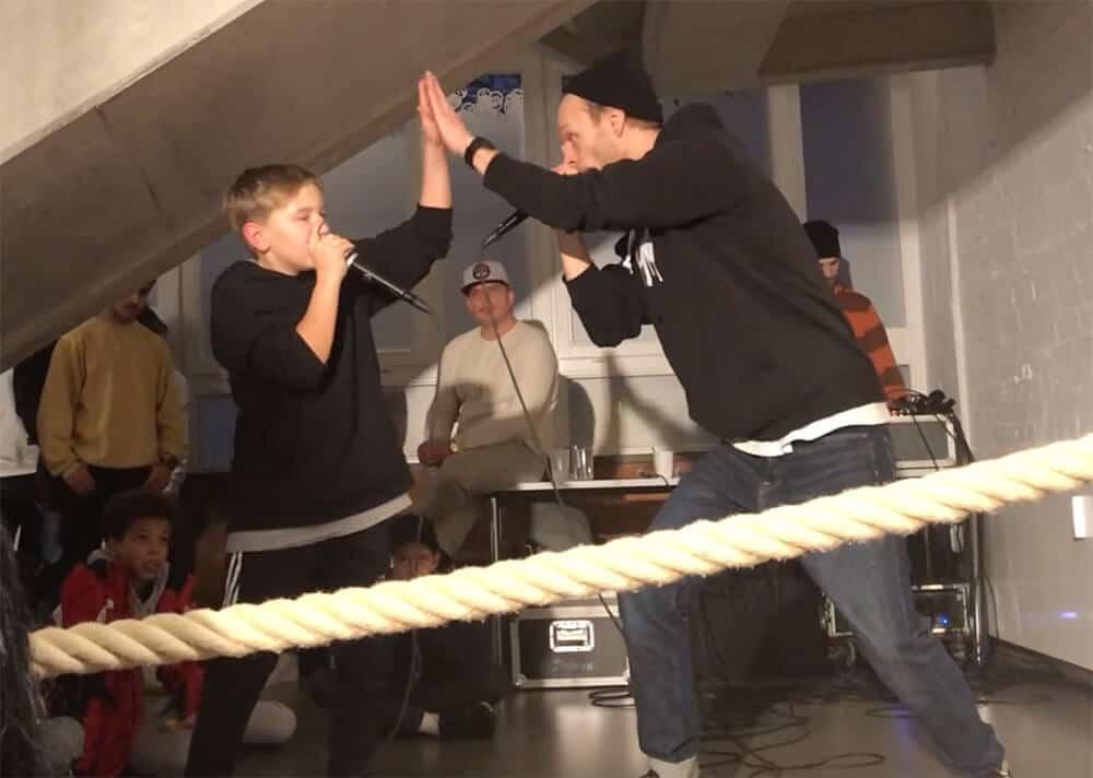 Beatbox MaZn Henry DeluxeBeatz DeluxeKidz Esche Jugendkunsthaus Winterfest 2018
