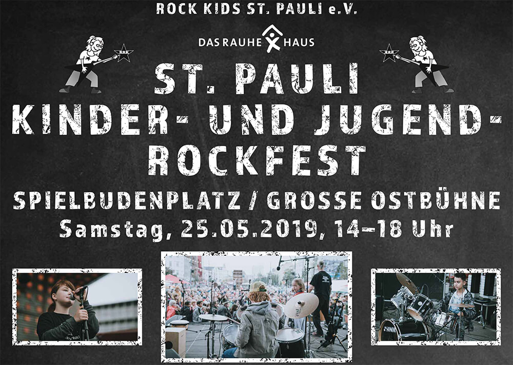 Rock Kids St. Pauli Das Rauhe Haus Esche Jugendkunsthaus Mai 2019