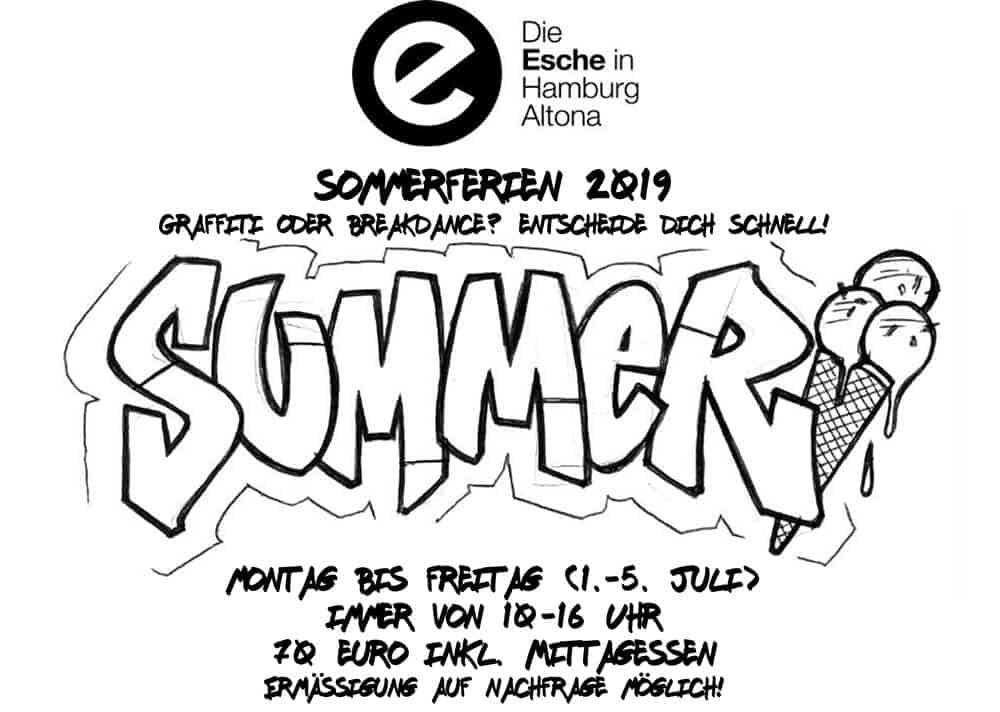 Sommerferien 2019 Breakdance Graffiti Esche Jugendkunsthaus Mai