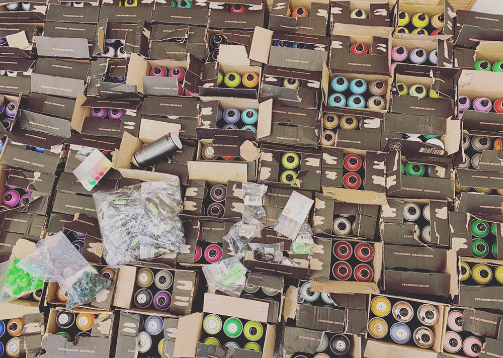 Spende MONTANA COLORS Graffiti Sprühdose Outliners Workshop Esche Jugendkunsthaus