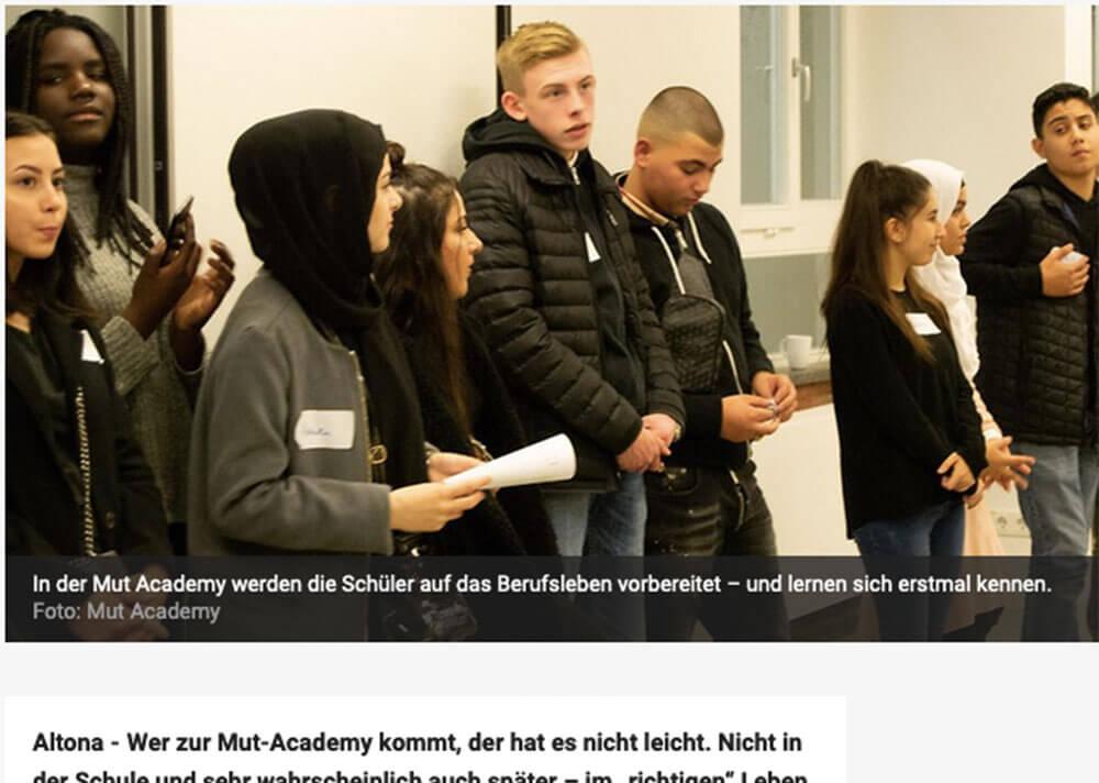 MUT Academy Esche Jugendkunsthaus Herbst 2019 Hamburger Morgenpost MOPO