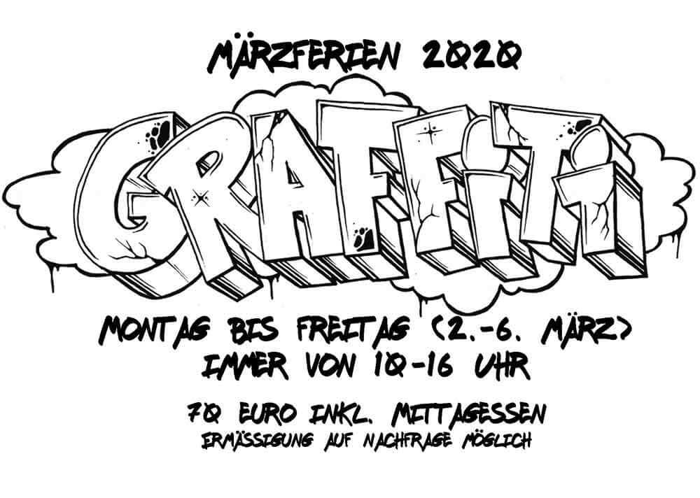 Märzferien 2020 Ferienprogramm Outliners Graffiti Esche Jugendkunsthaus