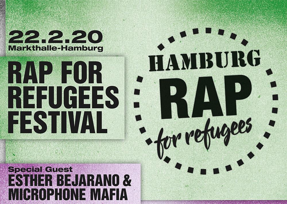 Rap for Refugees 22. Februar 2020 Markthalle Esche Jugendkunsthaus