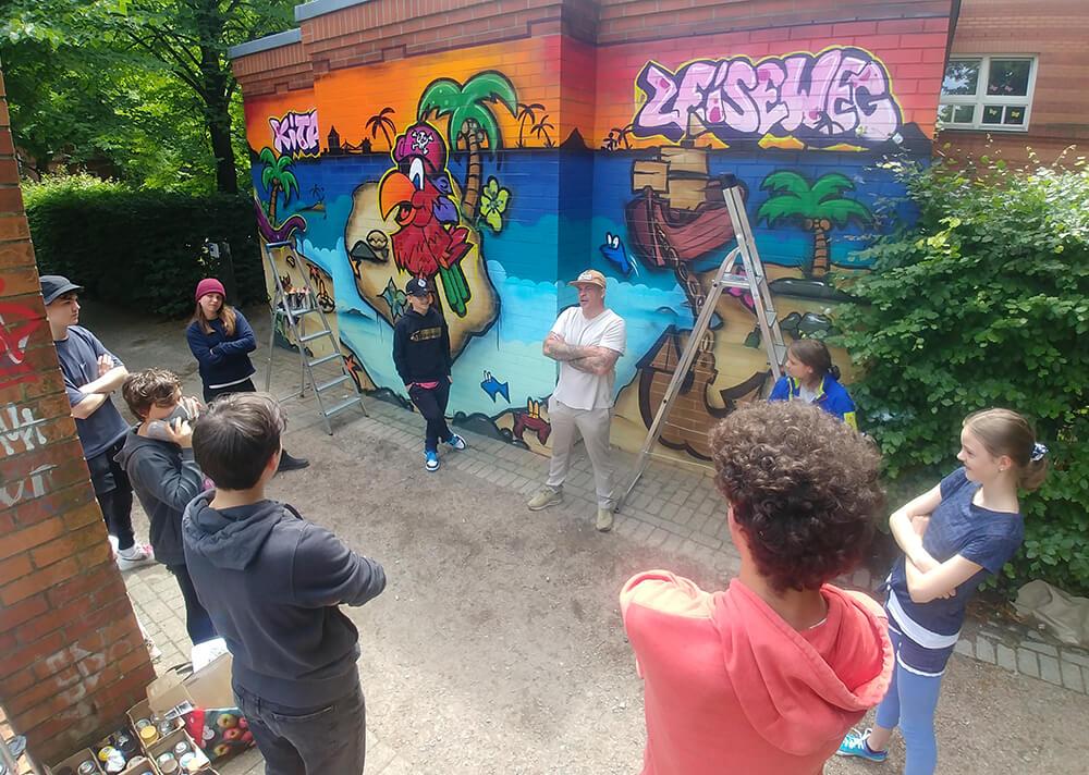 Outliners Graffiti Workshop Zeiseweg Altona Esche Jugendkunsthaus Sommerferien 2020